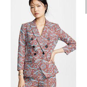 NWT Veronica Print Linen  Empire Dickie Jacket S4